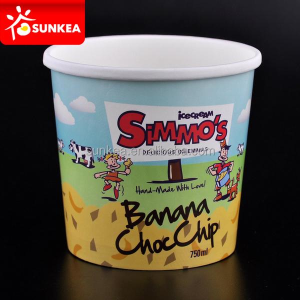 de dibujos animados taza de yogur de dibujos animados