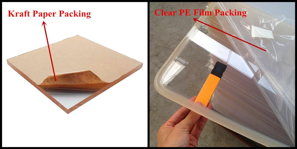 2mm 3mm 4mm 5mm épaisseur plexiglas clair/feuille de plastique acrylique 1000x2000mm
