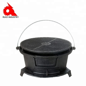 Whole Outdoor Bbq Round Enamel Cast Iron Hibachi Grill