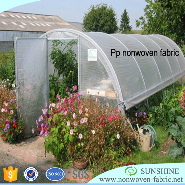 100% pp non woven fabric used for agriculture greenhouse covering or plant cover or weed mat