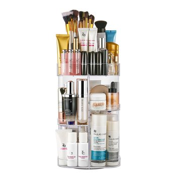 7f45b8a2d00e Acrylic Makeup Organizer 360-Degree Rotating Cosmetic Organizer Adjustable  Cosmetic Storage Box, Fits for Cosmetics, Brushes, View Acrylic Makeup ...