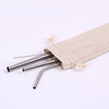 304 Metal Colorful Stainless Steel Straws Set bag brush straw stainless steel