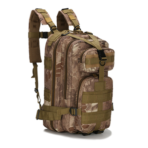 CYSHMILY Camouflage Army Camping Bags Outdoor Waterproof 3P Military Tactical Backpack