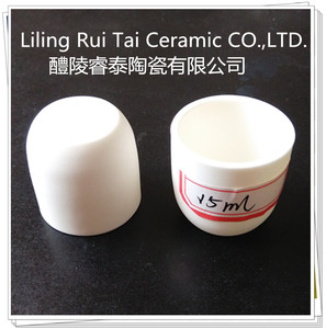 Ceramic 99.7% alumina crucible for melting silver / corundum crucible
