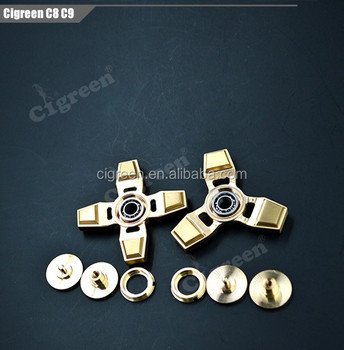new metal hand spinner made of brass and copper for fidget spinner