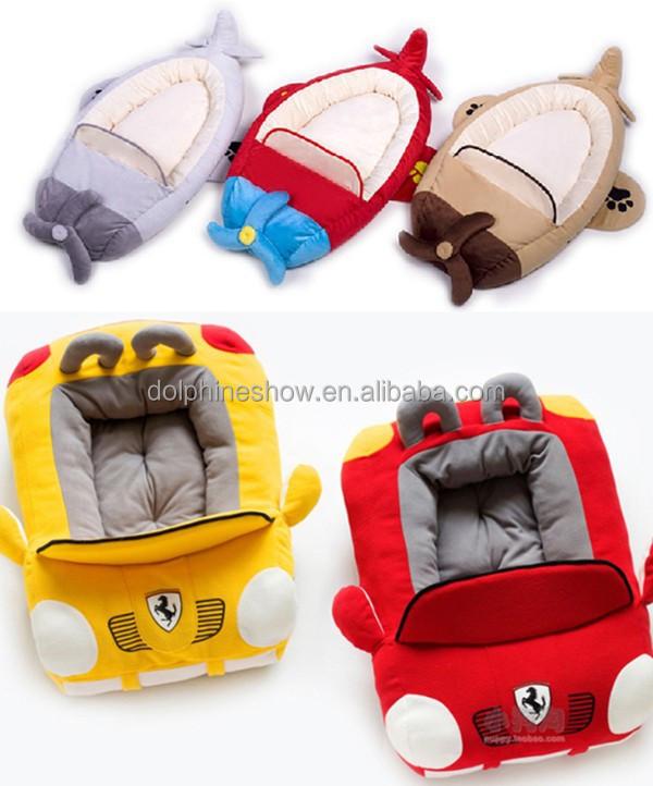 Auto colorate a forma di cane a casa cute cuccia per cane soft peluche ripiena memory foam letto - Letto a forma di peluche ...