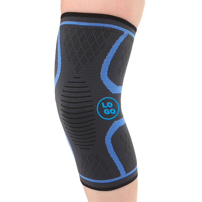 Gangsheng nylon silicon compression knee sleeve wrap, Multi colors option or customized