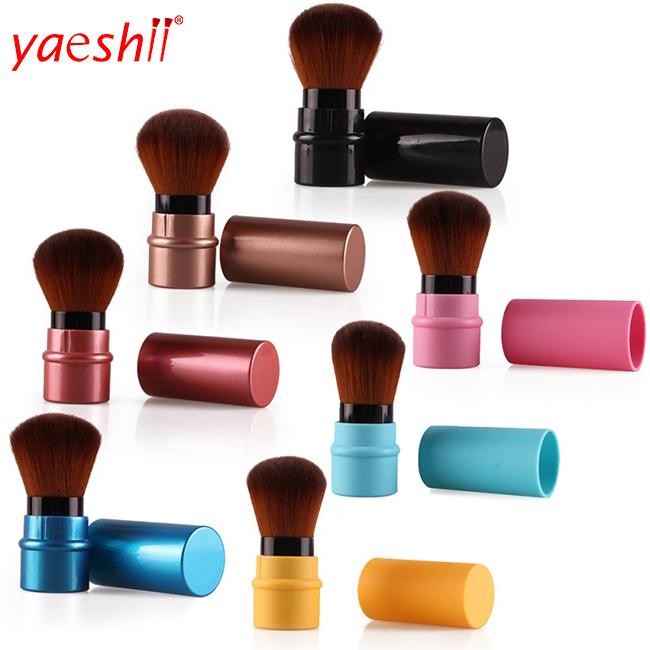 Yaeshii New Portable Mini Retractable Powder Brush Blush Brush Good Quality Makeup Brush
