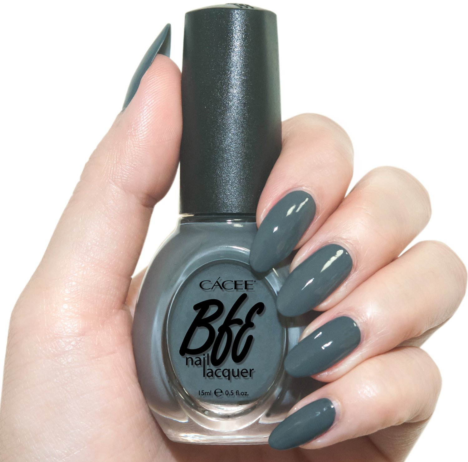 Cement Gray Nail Polish, Bella, Professional Color Lacquer by Cacee 323 0.5oz
