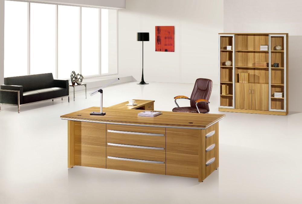 De alta calidad en forma de l escritorio de oficina de melamina ...