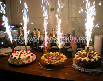 15cm25s Happy Birthday Candle Cold Fireworks Indoor Flame Sparkler For Wholesale