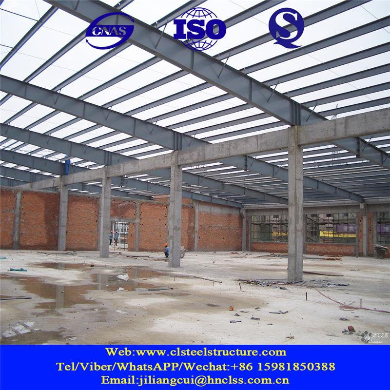 manufacturing steel structure prefabricated hangar