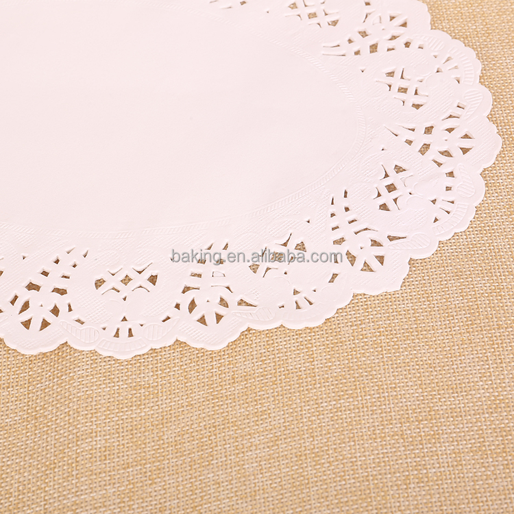 High Quality Eco-friendly Lace Oval disposable Paper Doilies