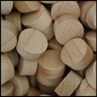 "WIDGETCO 1/2"" Maple Wood Plugs, Face Grain"
