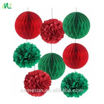 Christmas Green And Red.Xi An Meilun Art Crafts Green Red Tisssue Paper Flower Ball Christmas Paper Decoration Set View Paper Decoration Set Meilun Product Details From