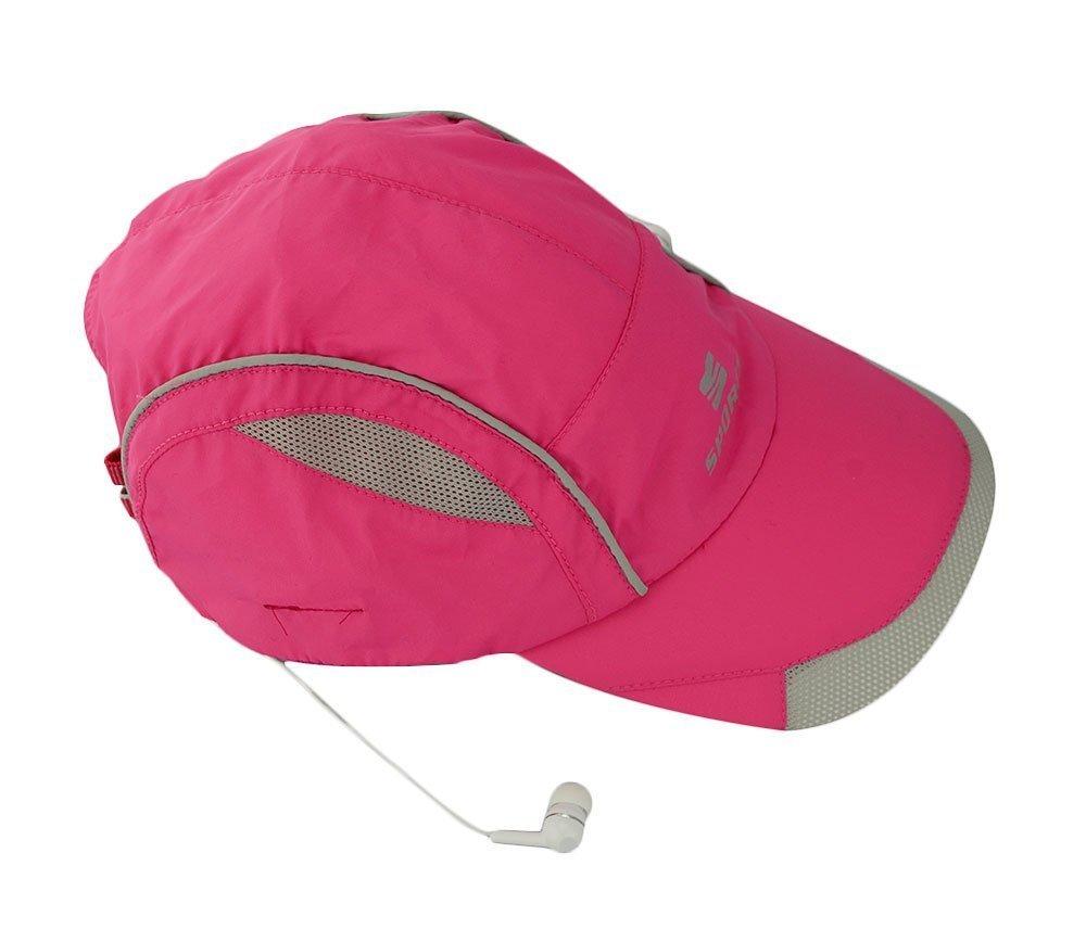 Winkeyes Women Men Bluetooth Baseball Cap Sun Hat Wireless Bluetooth Headset Sports Cap Music Speaker Sporting Running Summer Cap (Baseball hat-Rose)
