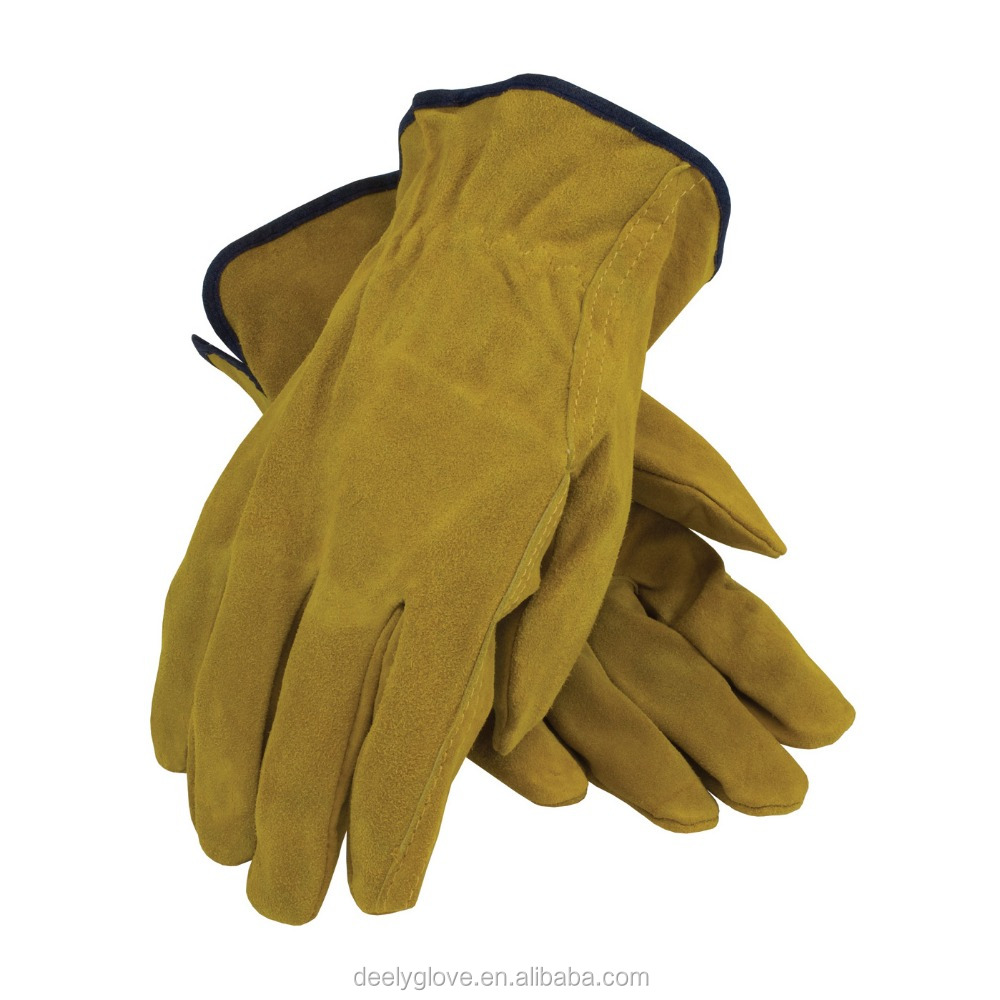 Cheap cow split leather truck drivers driving driver gloves