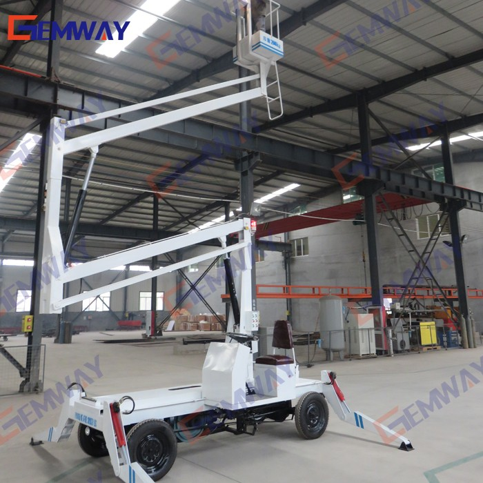 Outdoor diesel /battery power articulated boom street light lift