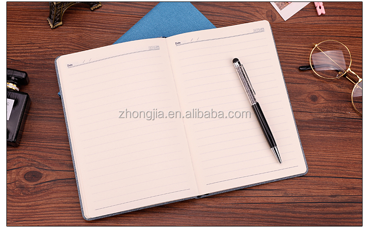 Round Corner Ruled Notebook Printing Planner with Elastic Closure