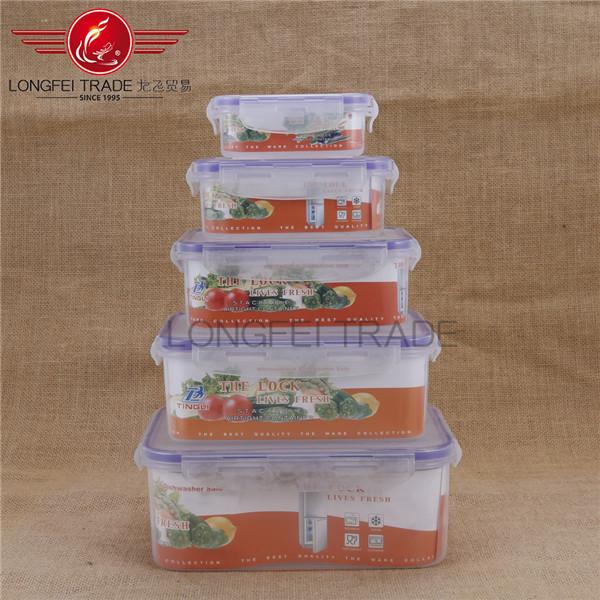 Vorratsbehälter Kunststoff 5 stücke durchsichtigen kunststoff luftdichten vorratsbehälter speicherkasten und behälter
