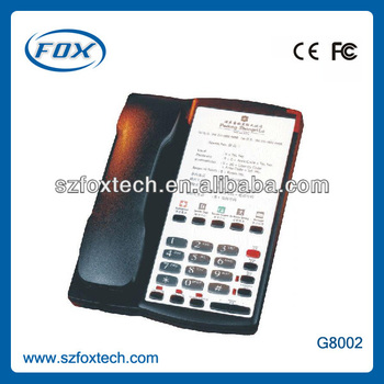 Fashionable design EU type high popular hotel sip phone
