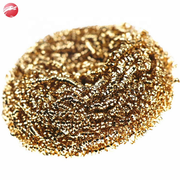 Very popular copper scourer brass coated galvanized scourer