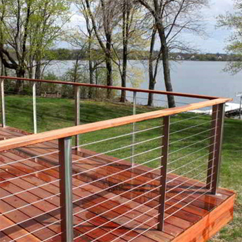 Staircase Stainless Steel Wire Railing With Round Timber Handrail - Buy  Exterior Handrail Lowes,Stainless Steel Decking Clips,Square Tube Base  Plate