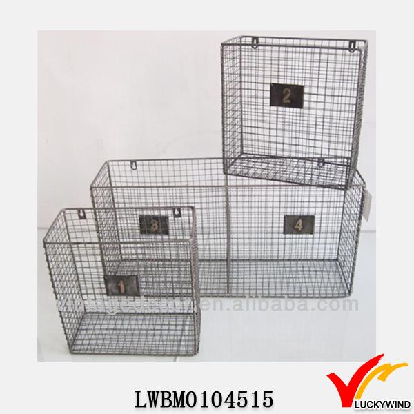 ac1b7cf42af Rustic Handmade Decorative Wall Mounted Wire Baskets - Buy Wall ...