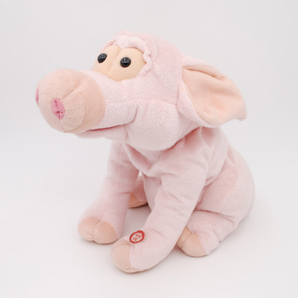 Customized factory plush pink lovely pig toy super soft 100% polyester animal pig toy