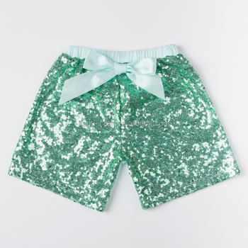 high quality wholesale kids clothing sequin shorts sparkling shorts for infants