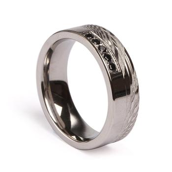4b65293b28ca Venta caliente de regalo de joyería de moda anillo de los hombres de acero  de Damasco