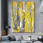 wholesale canvas print painting canvas abstract canvas art yellow color picture wall art
