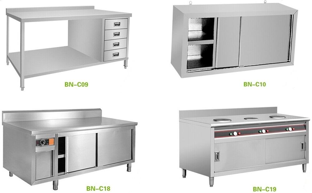 Fast Food Restaurant Stainless Steel Kitchen Storage Cabinet