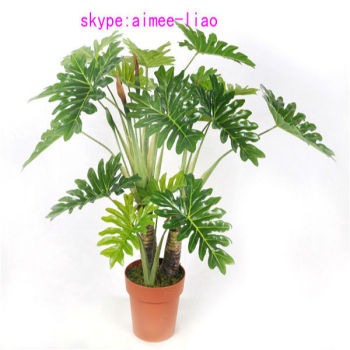 Q090401 Ornamental Indoor Plants Fake Philodendron Selloum Bonsai Artificial  Plant