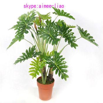 q090401 ornamental indoor plants fake selloum bonsai artificial plant