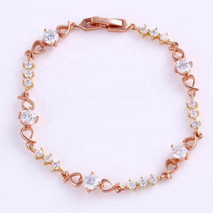 72188 Xuping factory price directly cheap fashion gold jewelry forever crystal bracelet jewelry фото
