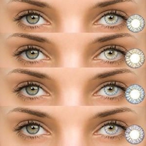 Beauty Corner Pineapple Tricolor Yearly Use Colored Contact Lenses Cosmetic Soft Korea Solotica Contact Lens