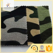 polyester spandex camouflage digital printed knit single jersey fleece fabric