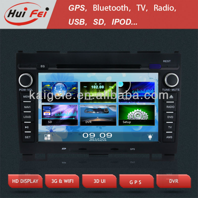 HuiFei KGL-7701G Car DVD navigation with PIP virtual-6 disc for Great Wall Hover H3/5