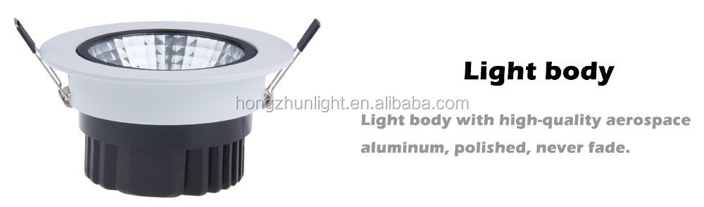 Environment protecting gimbal led downlight with long timespan CE ROHS approved