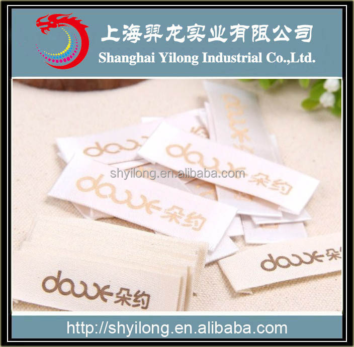 Low price Garments Printed tag /printing Label for Garments/Shoes/leather tag ELG
