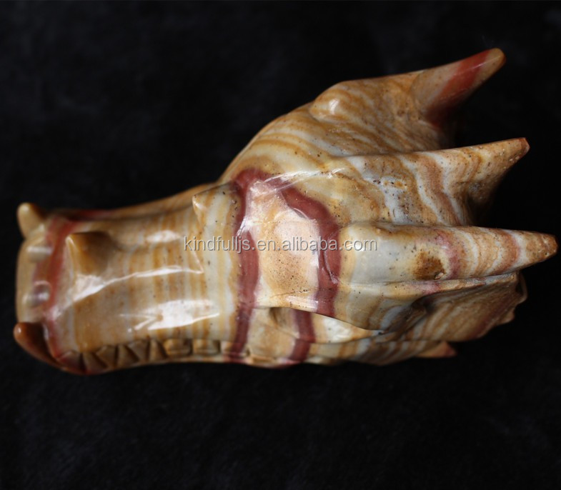 New arrived hand carved top quality agate dragon skull for sale