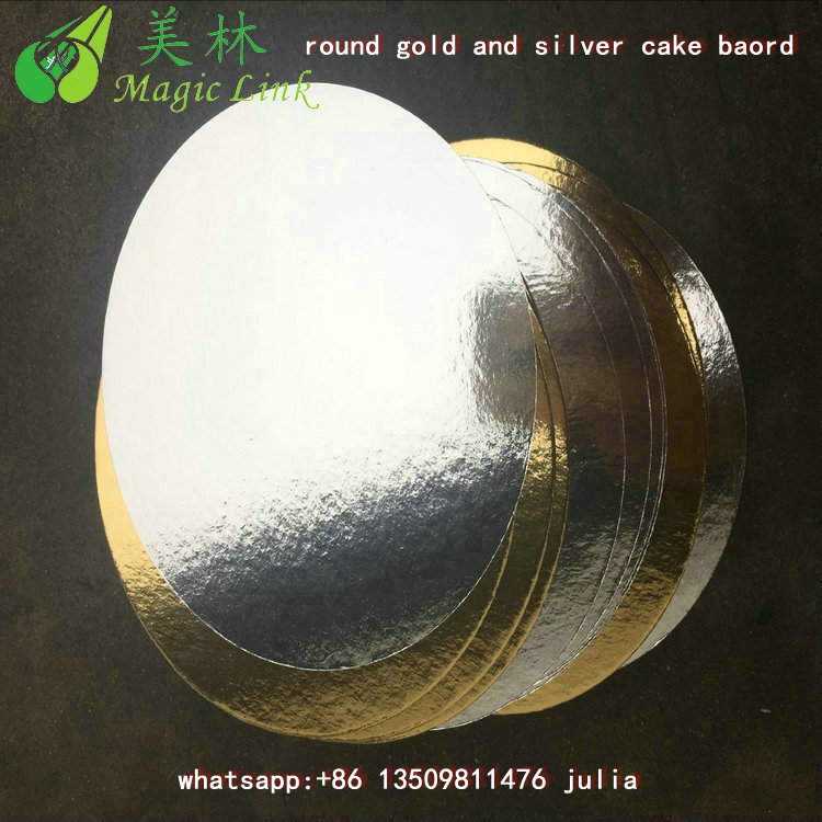 white/gold/silver cake tray board India Pet coated gold laminated duplex white paper for cake boards India
