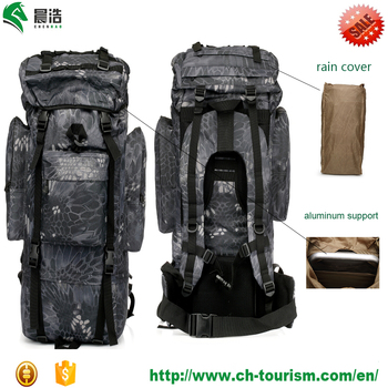 large internal frame military tactical molle backpack rucksack 100l camping hiking mountaineering bag with rain cover - Military Rucksack With Frame