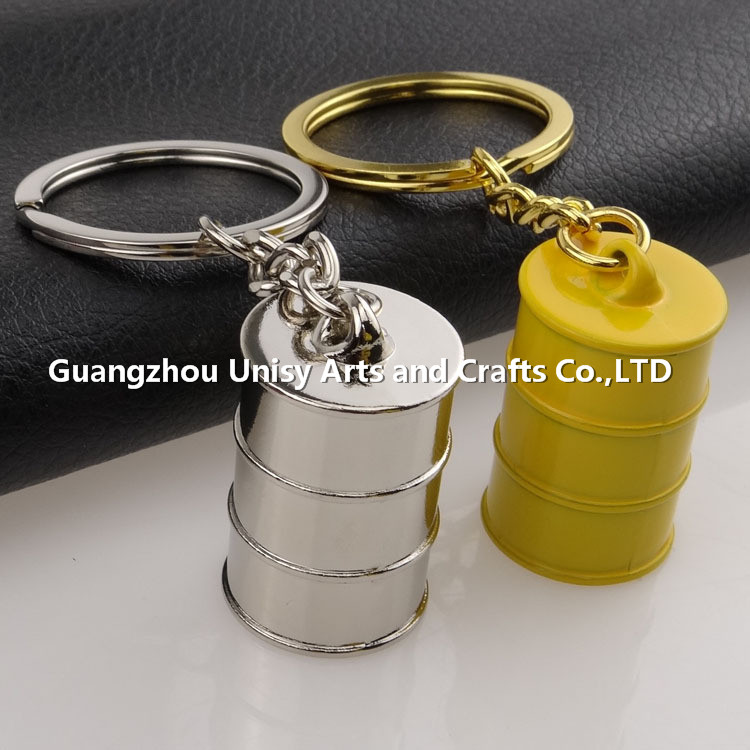 Creative auto parts key ring metal bucket piston key chain