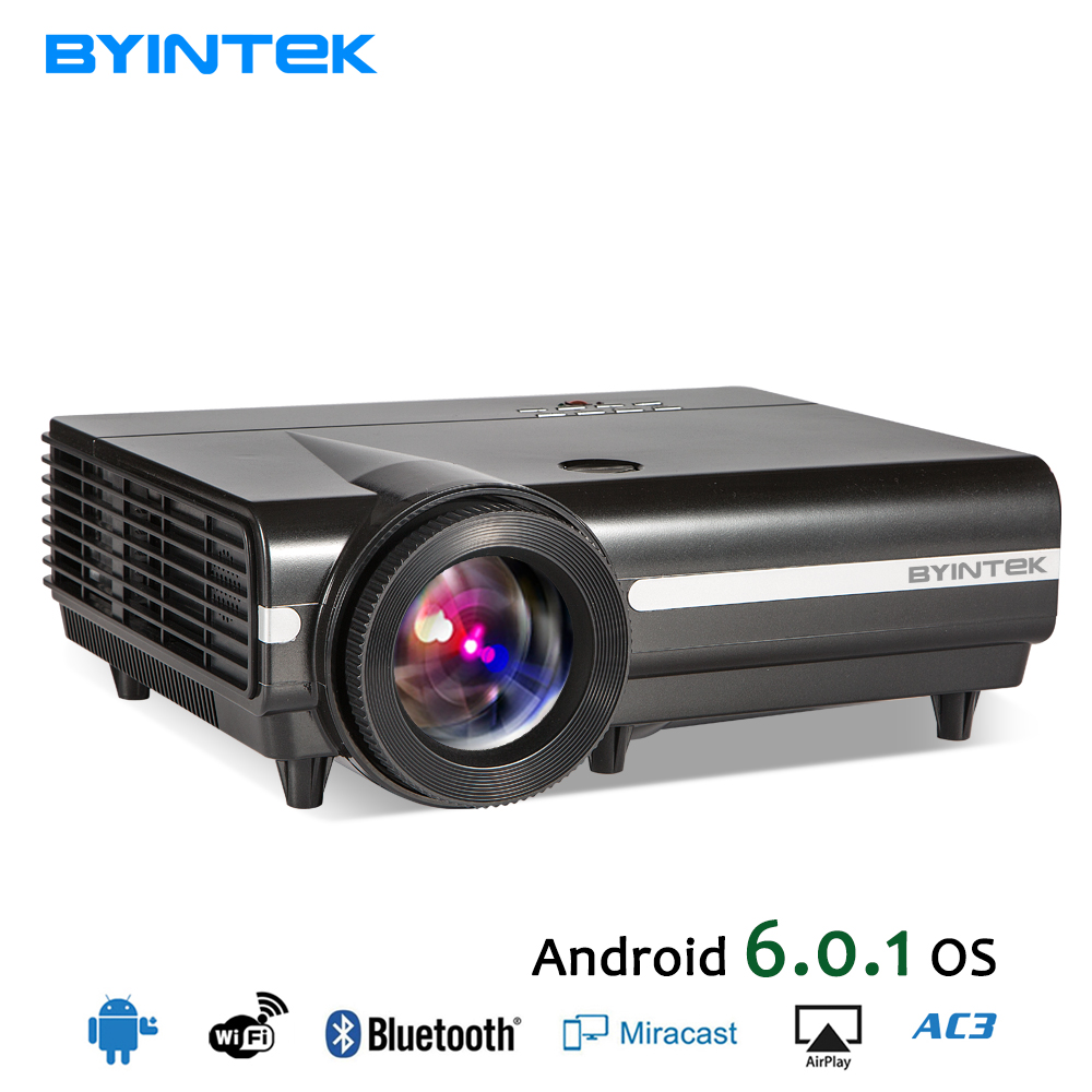 BYINTEK Latest Cheap Home Theater 6000 Lumens HD LED Projector for Mobile Phone