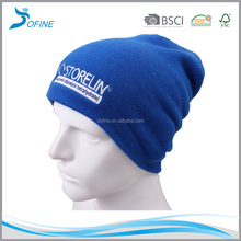 Hot sale cheap winter custom embroidered logo mens beanie