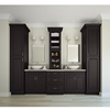 Best Price Chinese Double Sink Solid Wood Bathroom Vanity