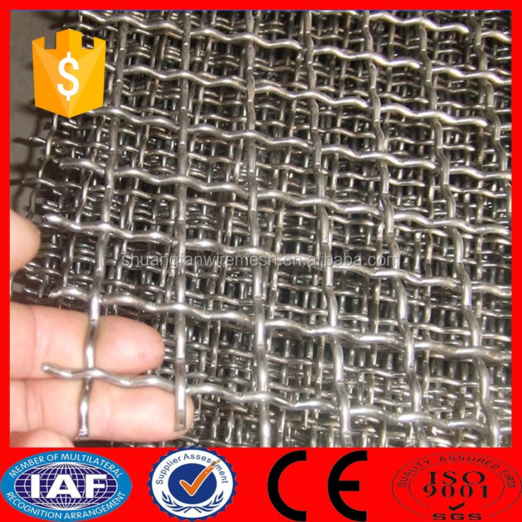Flat Type Hot Dipped Galvanized Crimped Wire Mesh/Vibrating Screen Cloth(Manufacturer)