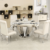 Foshan most popular modern round dining table set for sale